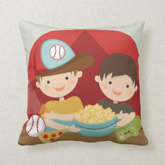 Personalized Camping Sleepover Adventure Pillow