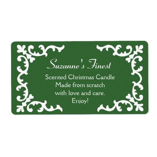 Personalized Candle or Canning Jar Green Label Custom Shipping Labels