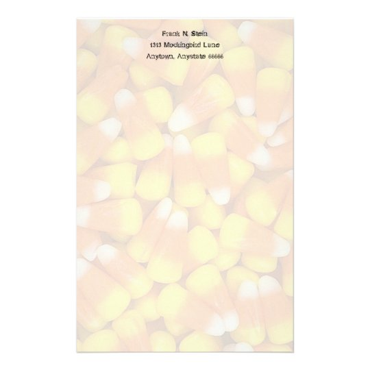 Personalized Candy Corn Stationery