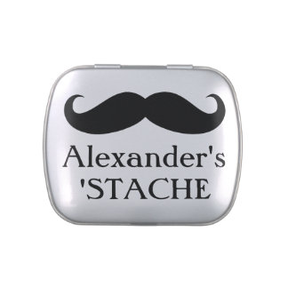 Personalized Candy/Mint Stache Stash Candy Tin