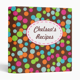 Personalized Candy Sprinkles Recipe Binder Gift