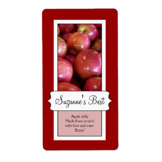 Personalized Canning Jar Label, Apple Shipping Label