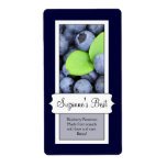 Personalized Canning Jar Label, Blueberry Shipping Label