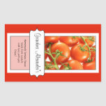 Personalized Canning Jar Label, Custom Tomato Stickers