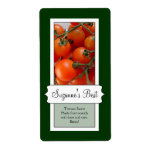 Personalized Canning Jar Label, Tomato Personalized Shipping Label