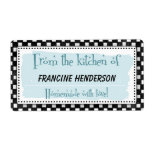 Personalized Canning Labels - black & white retro