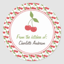 Personalized Canning Labels - Cute Cherries