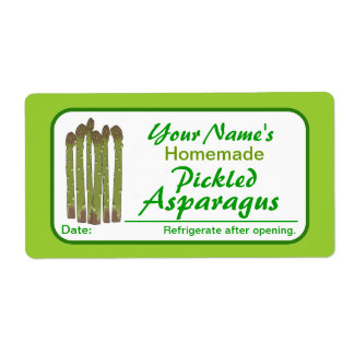 Personalized Canning Labels Pickled Asparagus Custom Shipping Labels