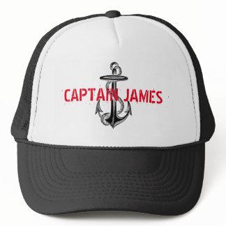 Personalized Captain Black Vintage Anchor Trucker Hat