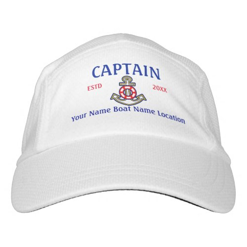 Personalized Captain First Mate Crew or Skipper Hat