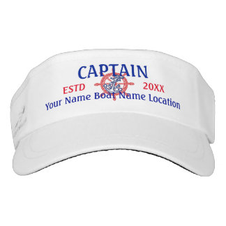Personalized Captain First Mate Crew or Skipper Visor
