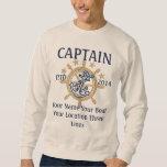 Personalized Captain First Mate Skipper Crew Sweatshirt