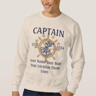 Personalized Captain First Mate Skipper Crew Sweatshirt