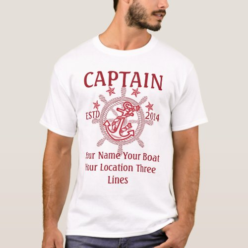 Personalized Captain First Mate Skipper Crew T_Shirt