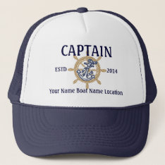 Personalized Captain First Mate Skipper Your Hat at Zazzle