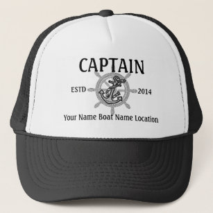 3a65f17b10aad Personalized Captain First Mate Skipper Your Hat