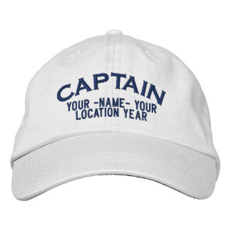 Personalized Captain Hat Embroidered Baseball Cap