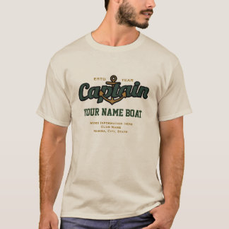 Personalized Captain Name Boat Year and More T-Shirt