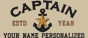 279adbbef2306 Personalized Captain Nautical Star Anchor Embroidered Baseball Hat