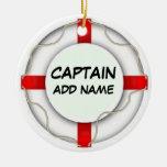 Personalized Captain Ornaments