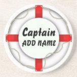 Personalized Captain Sandstone Coaster