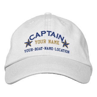 Personalized Captain Stars Ball Cap Embroidery Baseball Cap