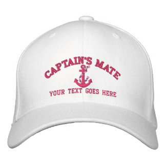 Personalized Captain's Mate Boat Anchor Your Name Embroidered Baseball Cap