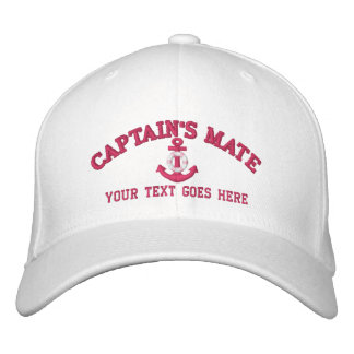Personalized Captain's Mate Boat Name Your Name Embroidered Baseball Hat