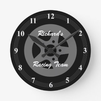 Personalized car wheel tire and rim wall clock