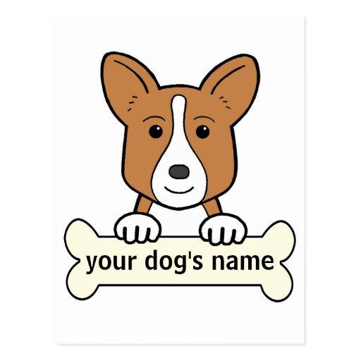 Personalized Cardigan Welsh Corgi Postcard