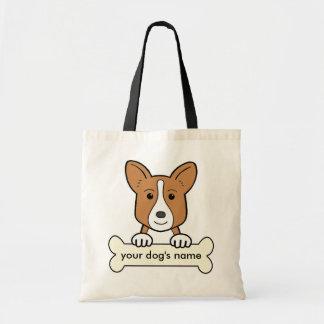 Personalized Cardigan Welsh Corgi Tote Bag