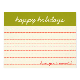 personalized cards: happy holidays, for reals. card