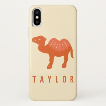 Personalized Cartoon Bactrian 2 Humps Camel iPhone X Case