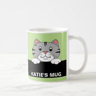 Personalized Cartoon Cat Mug