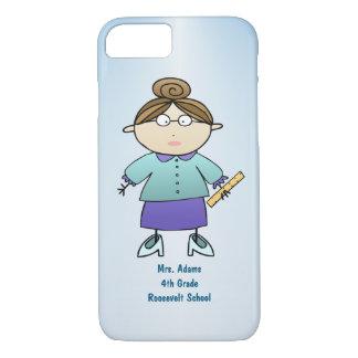Personalized Cartoon Female Teacher Custom Name iPhone 8/7 Case