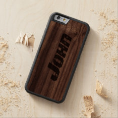 Personalized Carved® Walnut iPhone 6 Bumper Case at Zazzle