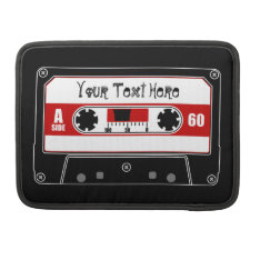 Personalized Cassette Tape Sleeve For Macbook Pro at Zazzle