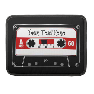 Personalized Cassette Tape Sleeve For MacBook Pro