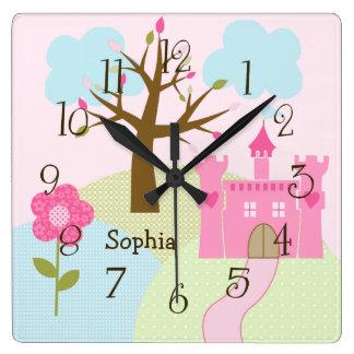 Personalized Castle/Dreams Come True Nursery Clock