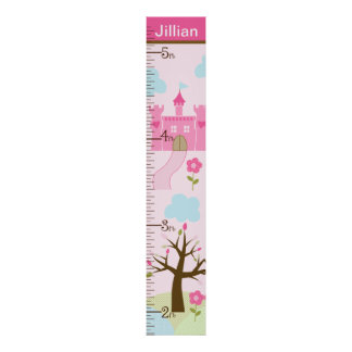Personalized Castle/Princess Dreams Growth Chart