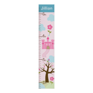 Personalized Castle/Princess Dreams Growth Chart Poster
