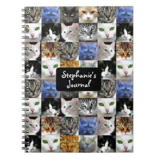 Personalized Cat Collage Journal