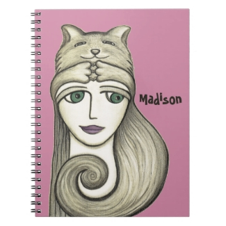 Personalized Cat Hug Notebook