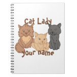 Personalized Cat Lady Spiral Notebooks