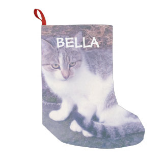 Personalized cat or dog pet photo custom Holiday Small Christmas Stocking