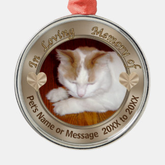 Personalized Cat Ornament YOUR PHOTO and TEXT