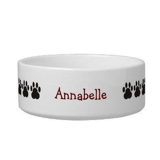 Personalized Cat Paw Print Pet Bowl