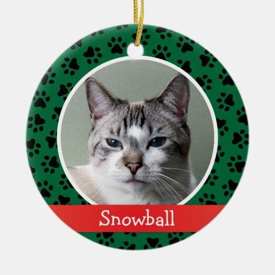 Personalized Cat Pet Photo Ornament