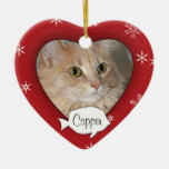 Personalized Cat Photo Holiday Ornament