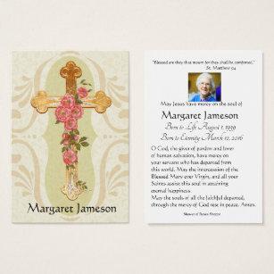 Catholic business cards templates zazzle personalized catholic funeral memorial holy card colourmoves